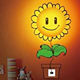 Sunflower DIY Home Room Decor Wallpaper Wall Sticker Night Light Lamp Novelty Wallpaper Lamp Cartoon Atmosphere For Kids
