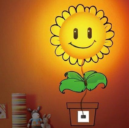 Sunflower Diy Home Room Decor Wallpaper Wall Sticker Night Light Lamp Novelty Wallpaper Lamp Cartoon Atmosphere For Kids