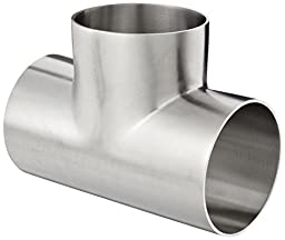 Dixon B7WWW-G250P Stainless Steel 304 Polished Fitting, Weld Short Tee, 2-1/2\