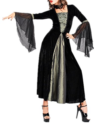 Allbebe Women's Halloween Witch Adult Boutique Masquerade Party COS Costume
