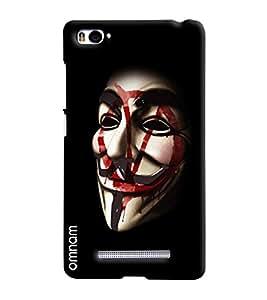 Omnam Joker Mask With Black Effect Printed Designer Back Cover Case For Xiaomi Mi4i