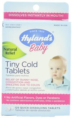 Hyland's Baby Tiny Cold Tablets, 125 Count