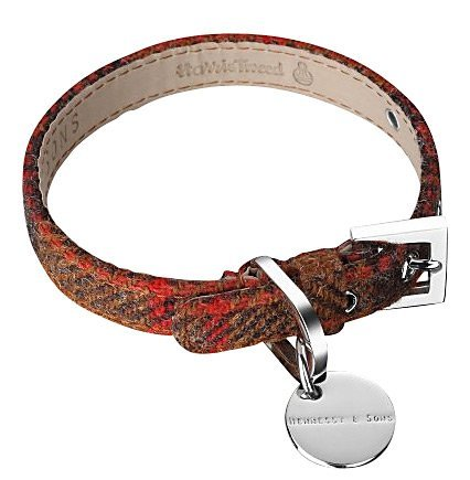 hennessy-harris-tweed-and-small-leather-dog-collar-rust-brown