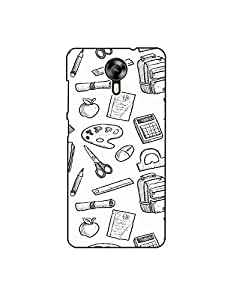 Micromax Canvas Xpress-2 Hand-drawn-school-equipment-pattern-01 Mobile Case (Limited Time Offers,Please Check the Details Below)