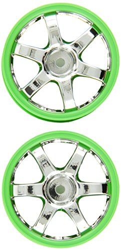 Traxxas 7374 TE37 Volk Racing Wheels Chrome and Green, 2-Piece, 1/16 Ken Block