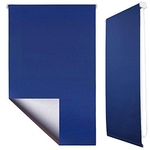 Sol Royal® Tenda a rullo termoisolante oscurante - con ganci per il telaio - senza perforare pareti 40x160 cm - blu