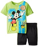Disney Boys 2-7 Mickey Toddler Short Set