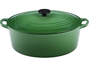Le Creuset Enameled Cast-Iron 3-1/2-Quart Oval Wide French Oven-Fennel