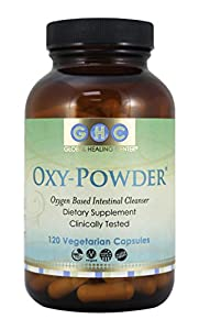 Oxy-Powder Intestinal Cleanser by Global Healing Center (120 Capsules)