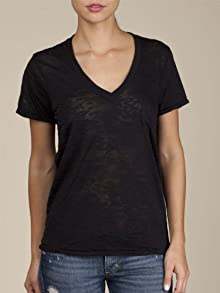 Women's Burnout Deep V-Neck