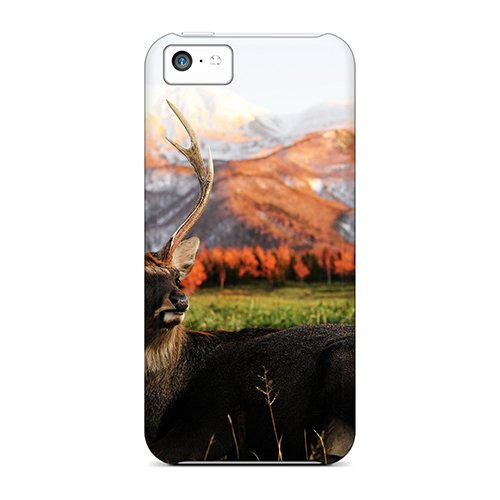 Ltn516Ulnt Snap On Case Cover Skin For Iphone 5C(Single Deer)