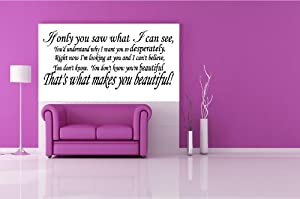"That's What Makes You Beautiful ~ One Direction: Wall Decal, 12"" X 27"" from Best Priced Decals"