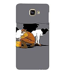 EPICCASE Cow milk Mobile Back Case Cover For Samsung Galaxy A9 (Designer Case)
