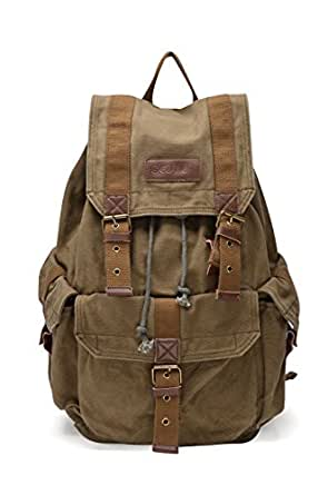 Gootium 21101AMG Specially High Density Thick Canvas Backpack Rucksack, Army Green