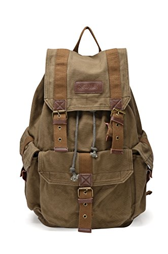 Otium 21101AMG Large Canvas Backpack - Large Size - Army Gre