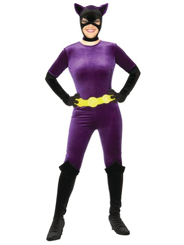 Sexy Catwoman Costume Purple Velvet Jumpsuit Superhero Costume Hero