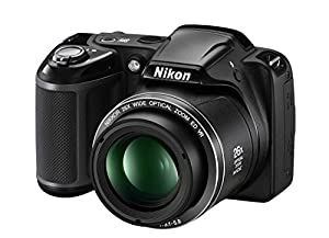 "Nikon Coolpix L330 Digital Camera (Black) + 32GB Memory Card + 50"" Tripod + Reader + Flexible Gripster Tripod & more"