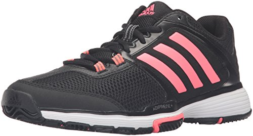 Adidas Performance Women's Barricade Club W Tennis Shoe, Black/Flash Red/White, 7 M US