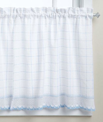 Linen Lorraine Home Fashions: Lorraine Home Fashions Adirondack Tier Curtain Pair, 60 By