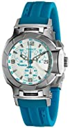 Tissot Womens T0482171701702 T-Race White Dial Blue Silicone