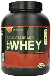 Optimum Nutrition 100% Whey Gold Standard, Tropical Punch, 5 Pound