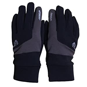 WONNY Slip Resistant, 80% polyester 20% spandex,Outdoor Gloves,Work Gloves,Sports gloves, women gloves, winter gloves HW-069 Grey M