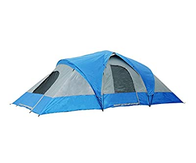 Semoo 9-Person Three-Room Family Tent with Large D-style Door for Camping/Traveling with carry bag