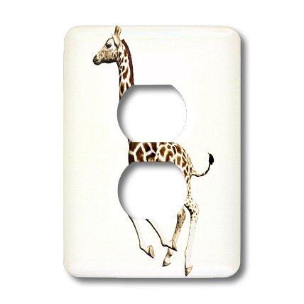 3dRose LLC lsp_62976_6 Giraffe Running 2  2 Plug Outlet Cover
