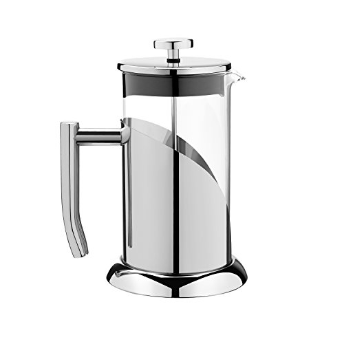 Sofia's Treasures Stainless Steel Angelica French Press Coffee Maker & Tea Press 34 oz with Guide and Coffee Scoop