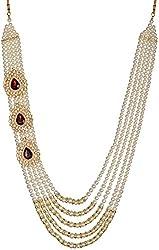 Jheeel International Festive White pearl Bead Carriers for men (JIFJ0025)