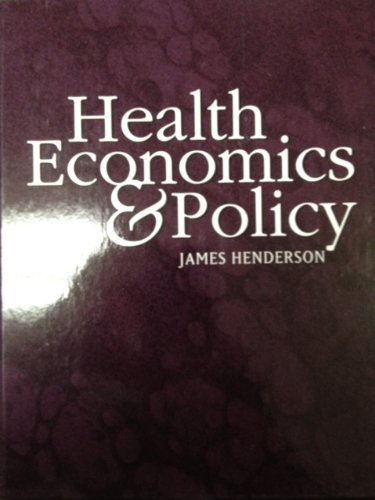 Health Economics and Policy 0538874848