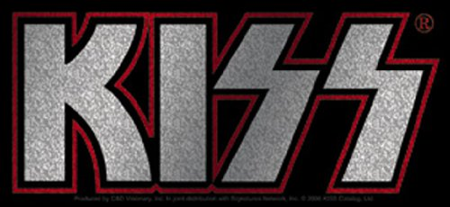 Licenses Products Kiss Logo Glitter Sticker