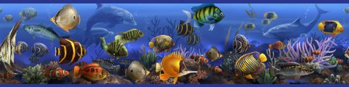 RoomMates RMK1004BCS Under the Sea Peel and Stick Wall Border