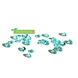 We Can Package 1800 Tiny Diamond Rocks Vase Fillers Wedding Table Scatter (light aqua)