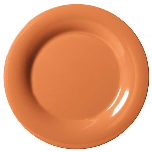 "G.E.T. Wp-10-Pk Pumpkin Diamond Harvest 10 1/2"" Wide Rim Plate-Wp-10-Pk"