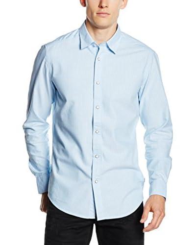 G-Star Camicia Uomo Landoh Clean [Blu Chiaro]