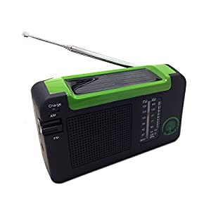NEW Re-Wind Eco Friendly AM/FM Compact Radio - Features: Wind-up Action, Rechargeable and Solar Powered, Headphone Socket, DC Input for Charging via USB (Cable Included) - Ideal Accessory for Walking, Hiking, Camping and Home/Office use - Never Needs Batteries! 2 Year Worldwide Guarantee