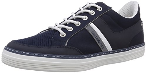 Samsonite Shoes SANTANDER LOW 1622 LEATHER/FABRIC BLUE/BLUE, Low-Top Sneaker uomo, Blu (Blau (BLUE/BLUE)), 40
