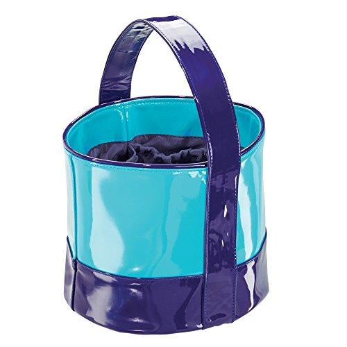 Remy InterDesign Custodia a borsa per bagno e doccia, College Dorm, spiaggia, in pelle, colore: blu/foglia di tè, 3 pezzi