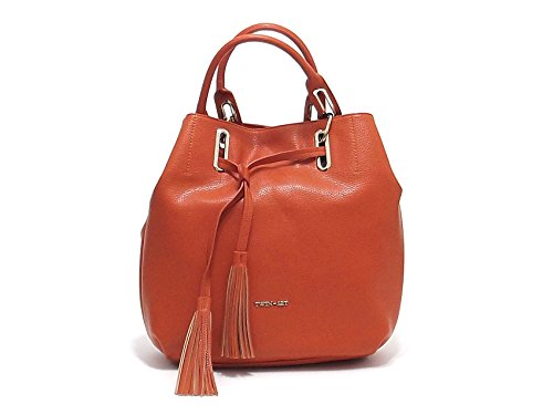 Twin Set borsa donna, linea Borsa Occhielli AS67FN, borsa a spalla in ecopelle, colore arancio