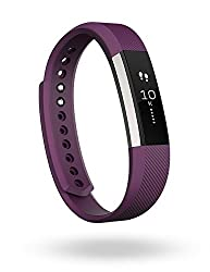Fitbit Alta Fitness Tracker, Large (Silver/Plum)