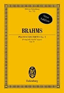 Piano Concerto No2 In Bb Major Op 83 Miniature Score from Edition Eulenburg