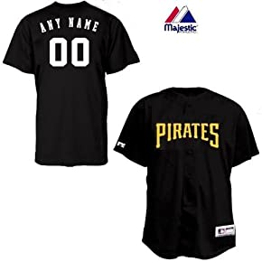 Pittsburgh Pirates Full-Button CUSTOM or BLANK BACK Major League Baseball Cool-Base... by Majestic Authentic Sports Shop