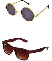 Benour BENCOM053 Combo Unisex Sunglasses