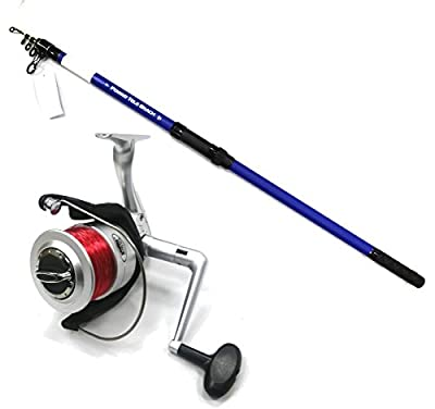 Poseidon Tele Telescopic Travel Beach Caster Rod 12ft A153 & Silkline 70FD Reel from Lineaeffe
