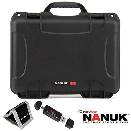 nanuk-910-hard-case-with-cubed-foam-black-polaroid-memory-card-wallet-and-ritz-gear-card-reader-writ