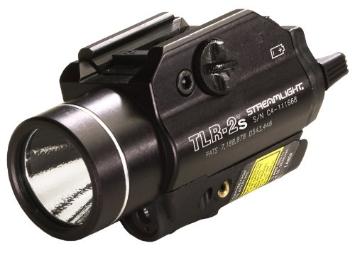 Streamlight 69230 TLR-2s Rail Mounted Strobing Tactical Light with Laser Sight and Rail Locating Keys