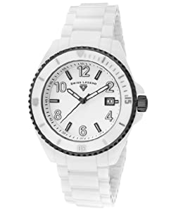 Swiss Legend Men's 11528-WWGMA Luminar Analog Display Swiss Quartz White Watch