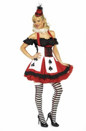 Sexy Queen of Hearts Fancy Dress Costume, Various Sizes