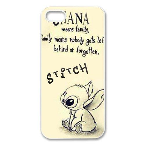 Stitch u0026 Lilo Ohana Means Family iPhone 5,5S Hard Plastic Phone Case